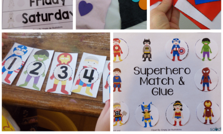 Superhero Theme Preschool Activities