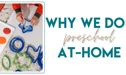 Why I Do Activities with My Preschooler At Home